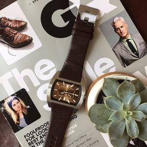 LIKE NEW Diesel Men's Watch on Brown Leather Strap